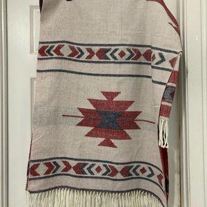 bp fringed blanket scarf.